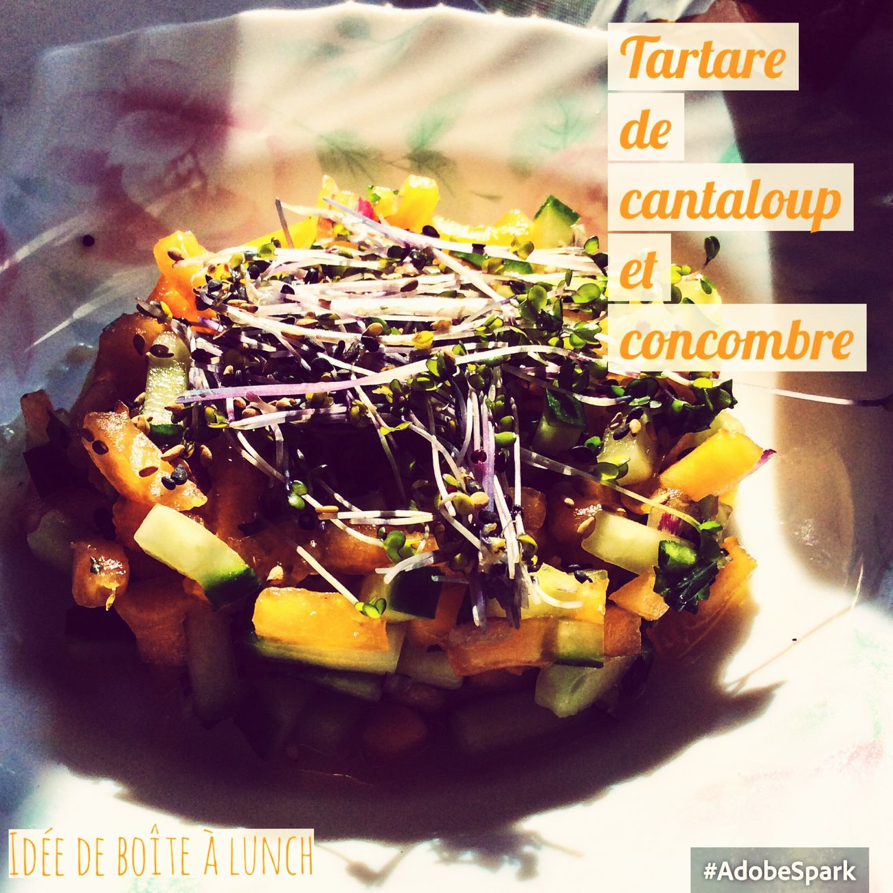 Tartare Concombre Cantaloup La Vida Es Bella What's For Dinner? Foodie Food Photography Vegetables Foodphotography Idées De Boîtes à Lunch