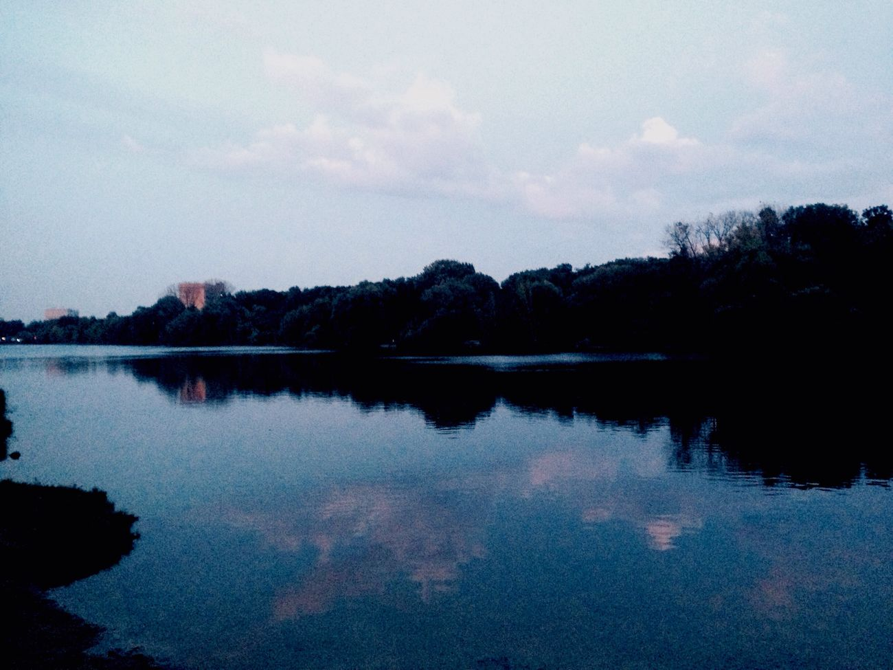 Water Sky Beauty In Nature Nature Blue No People Standing Water Park Moscow First Eyeem Photo