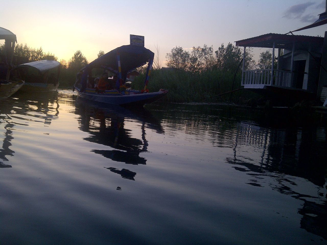 Beauty In Nature Day Kashmir Kashmirdiaries Nature Outdoors Reflection Rippled Scenics Sky Srinagar  Srinagar Kashmir Tranquil Scene Tranquility Water The Culture Of The Holidays