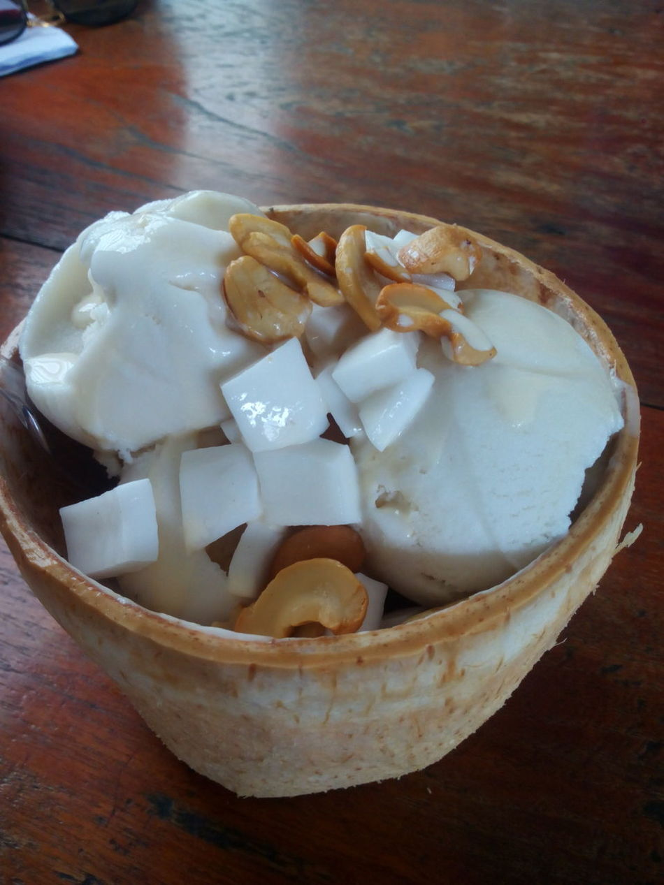 Bowl Chaingmaithailand Close-up Coconut Day Dumpling  Food Food And Drink Freshness High Angle View Ice Cream Icecreamlover Icecream🍦 Indoors  No People Ready-to-eat Table Wow!!😋 Yummy