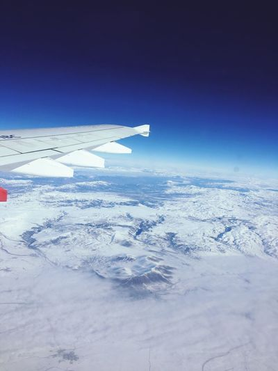 Cold Temperature Nature Winter Aerial View Scenics Snow Beauty In Nature Landscape Outdoors Airplane No People Tranquility Blue Tranquil Scene Transportation Airplane Wing Day Sky Horizon Over Water Iceberg