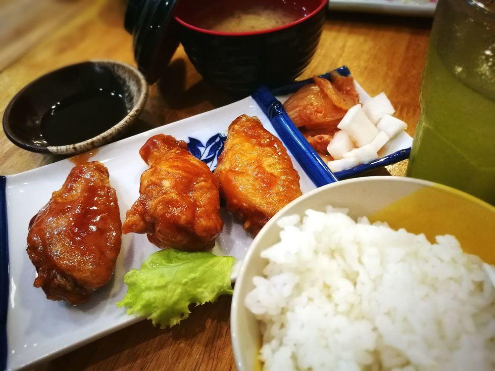 Food Foodporn❤️ Chickenwings Rice Greentea Matchagreentea Dinner Japanese Food