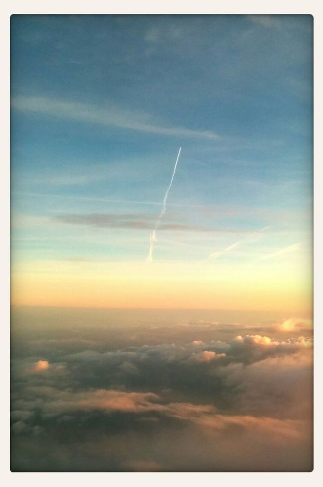 Taking Photos From An Airplane Window Cloud And Sky