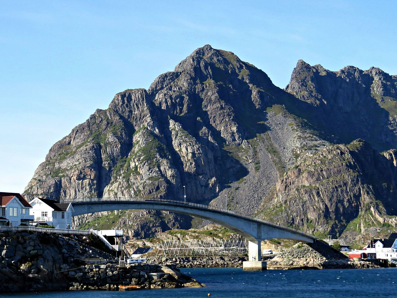 Architecture Beauty In Nature Bridge Day Destination Eye4photography  EyeEm Traveling Henningsvær Lofoten Mountain Mountains Nature Outdoors Transportation Travel Destinations Turistic Places Water