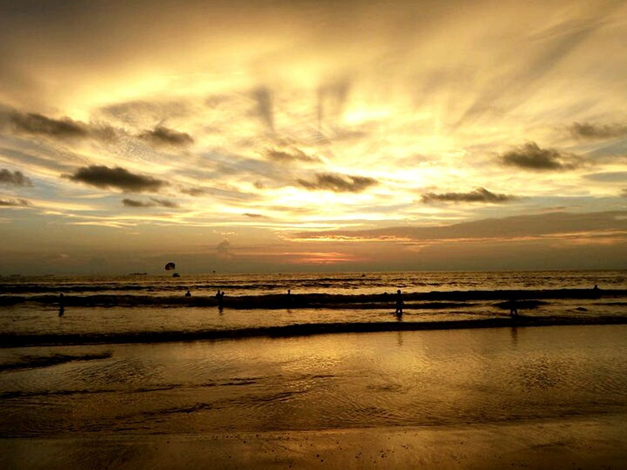 sunset, water, beauty in nature, nature, scenics, tranquility, reflection, tranquil scene, sea, cloud - sky, sky, beach, no people, horizon over water, outdoors, day
