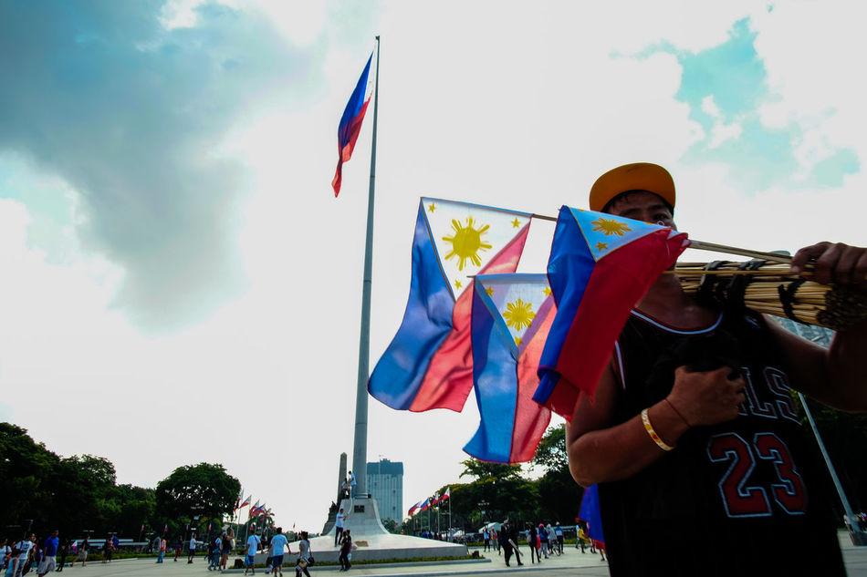 Dailyasia Everydayphilippines Eyeem Philippines EyeEm Philippines: Our Independence Day 2016 Freedom Fujifilm_xseries Fujixclub Fujixt10 Low Angle View National Flag Patriotism Samyang 12mm F2 Streetcolour Streetphotography