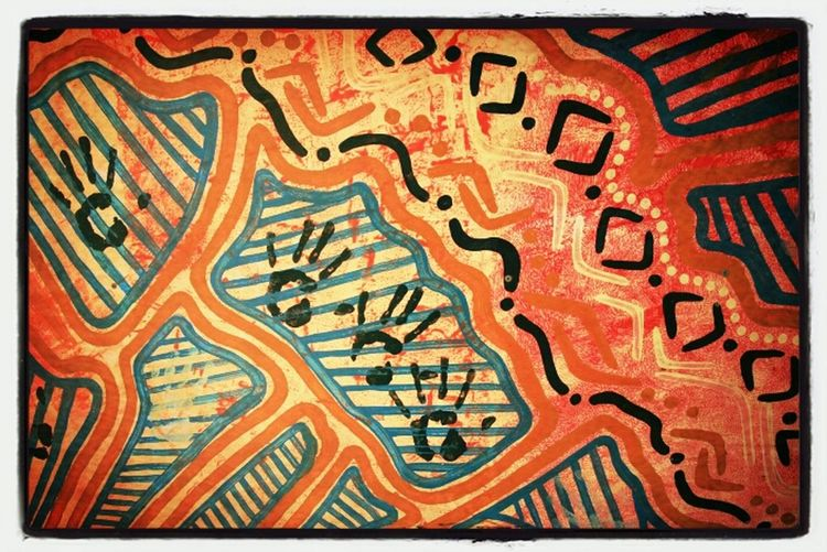 Art Color Le Chant Des Pistes  Aborigène