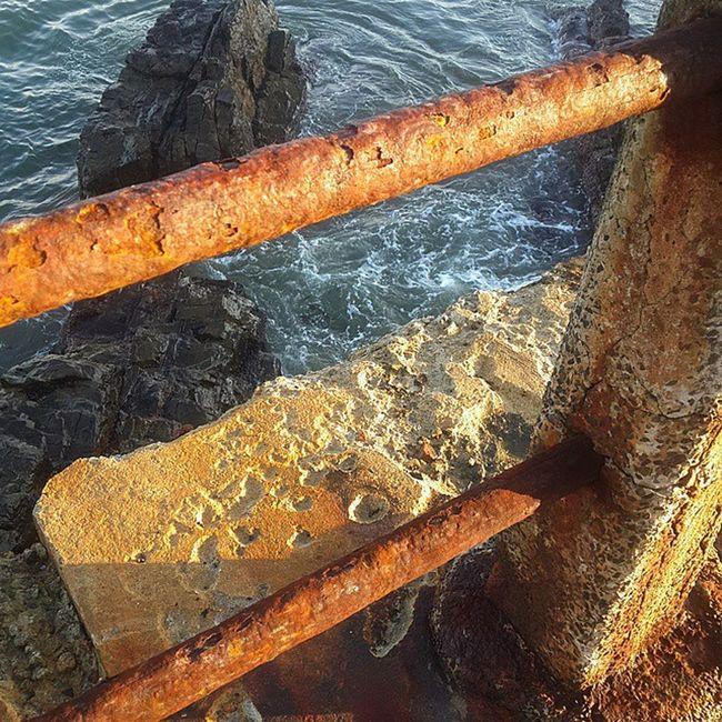 Orange Rail Rusted Seapointpromenade Seapoint SouthAfrica ILoveSA Winter orange contrast walk morningwalk quitethefind ocean sea CapeTown