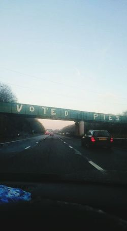 The Following Motorway Art Pies Democracy Let Them Eat Cake