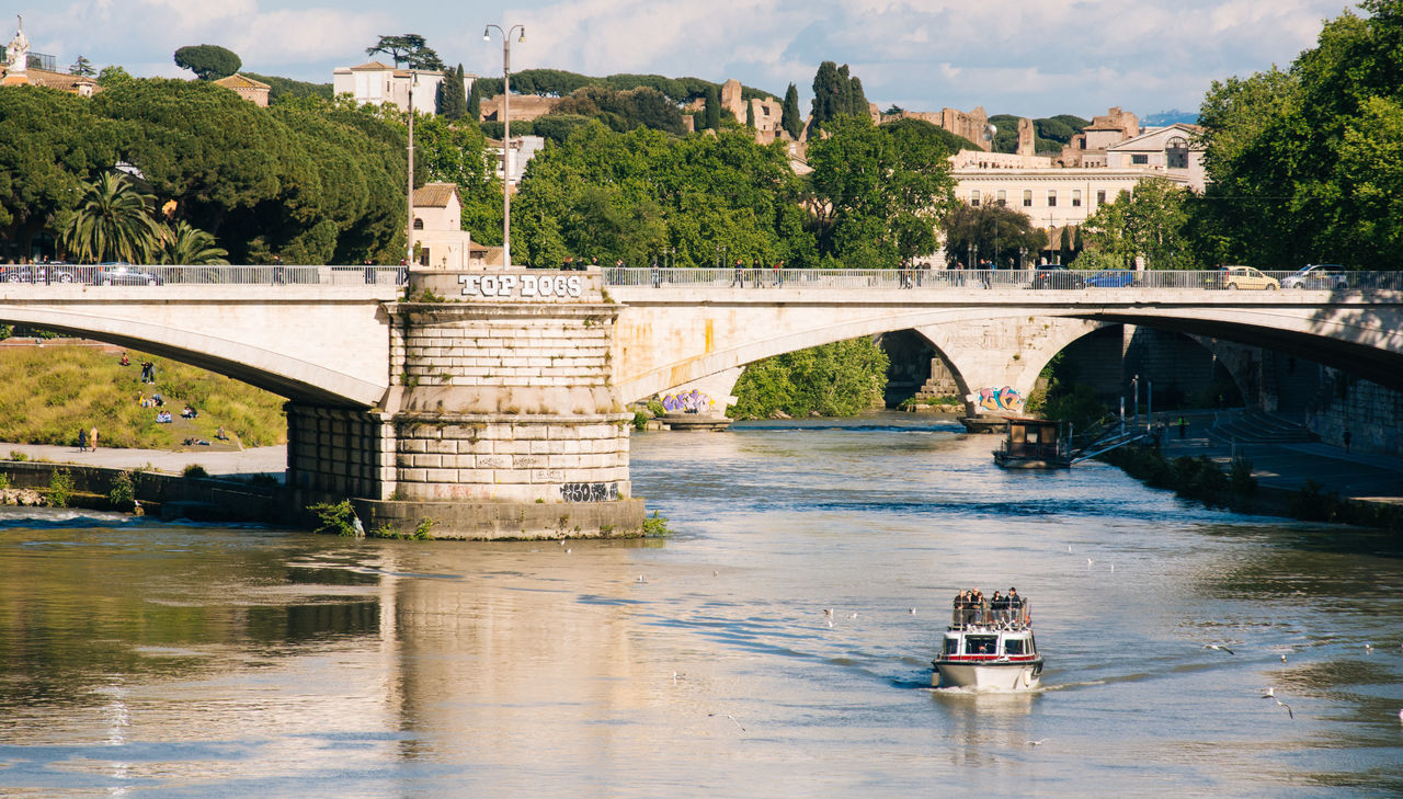 Beautiful stock photos of roma, Boat, Bridge, Connection, Day