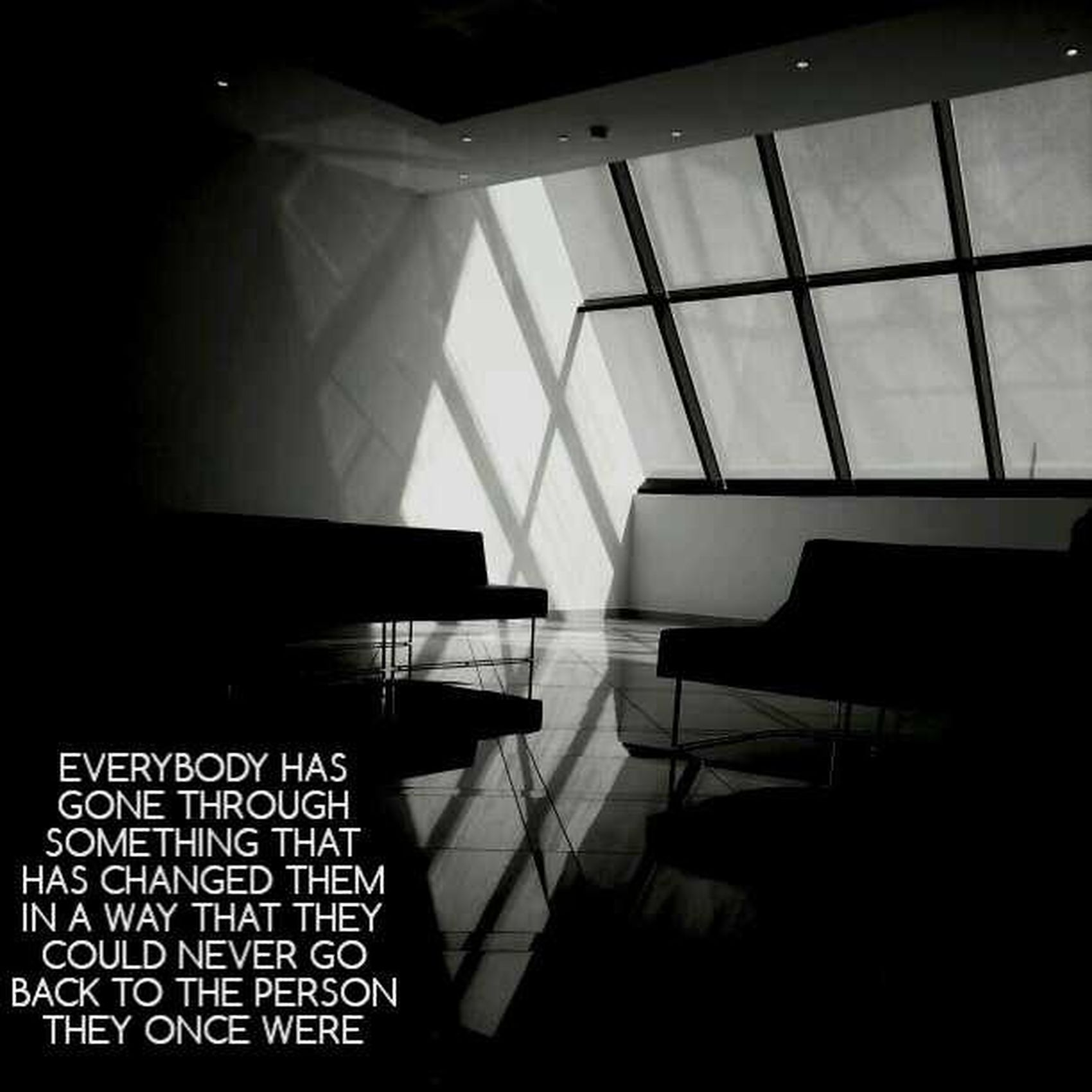 ' Everybody has gone through something that has changed them in a way that they could never go back to the person they once were !! ?? like_it ♡ + و نقول عطلناااا !?✌ Bahrain Bored Bh Black And White