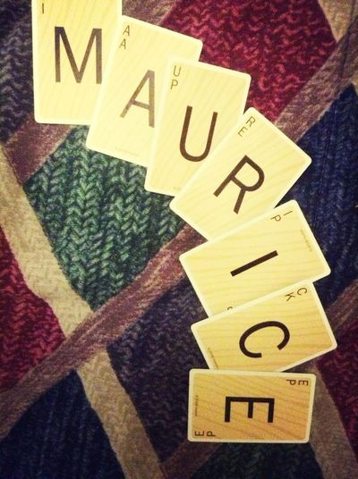 Spelled my name with scrabble cards