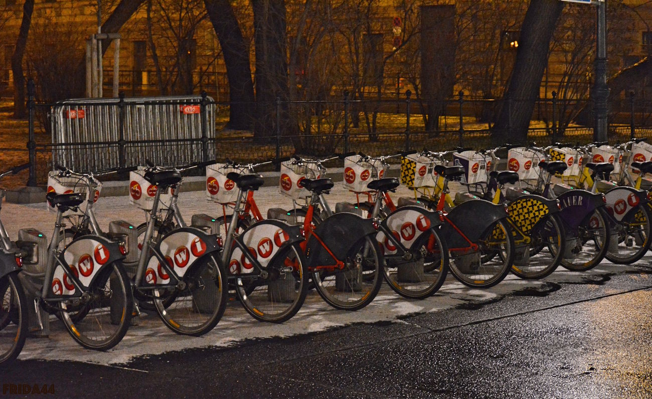 Bicycle December Land Vehicle Night Nikonphotography No People Outdoors Transportation Tree Vienna Winter