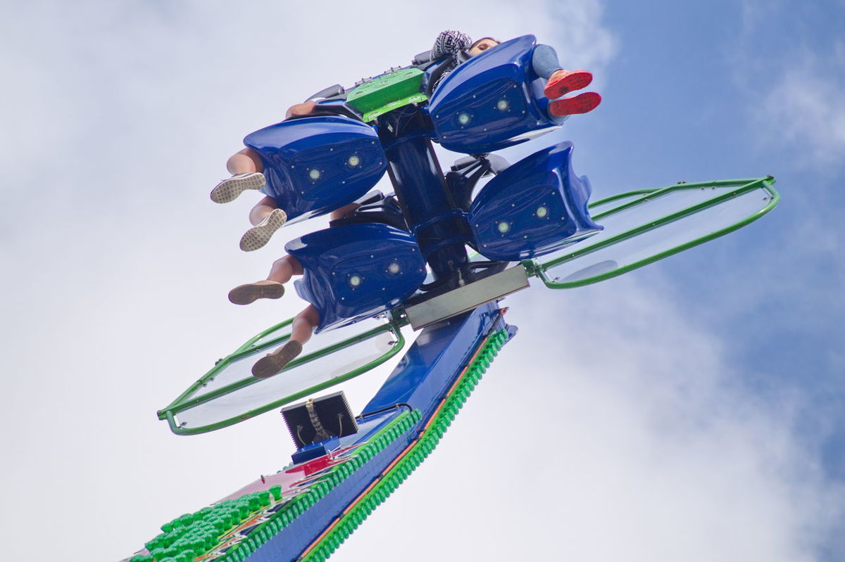 Amusement Park Arts Culture And Entertainment Carousel Catapult Cloud - Sky Day Dom Low Angle View Outdoors Sky