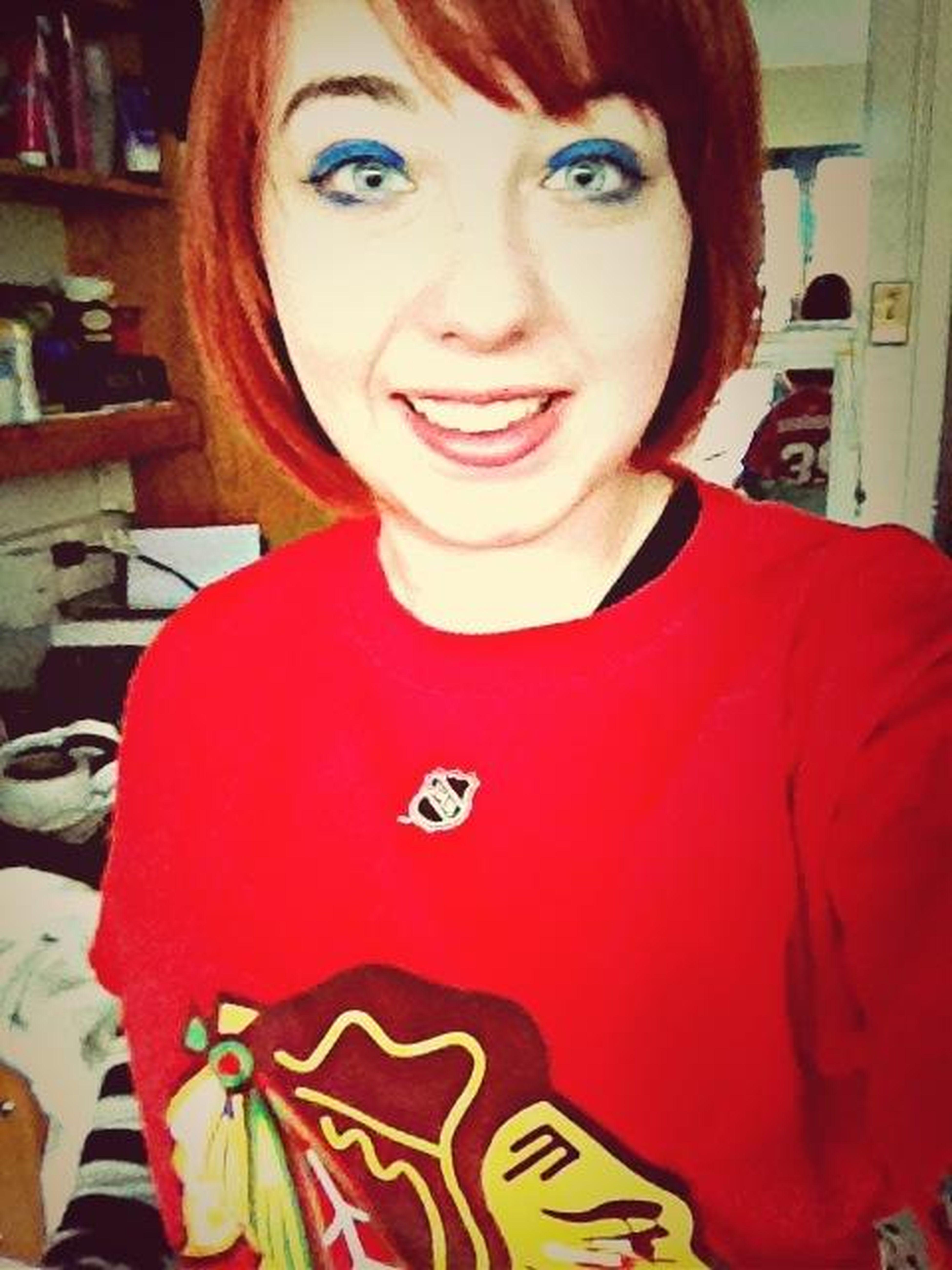 Got My Blackhawks Shirt On!