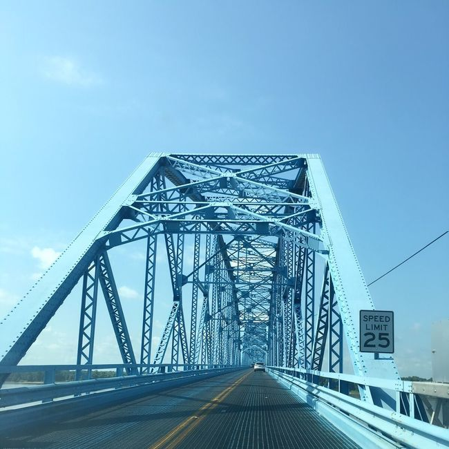 Ohio River Bridge Bridge - Man Made Structure Blue Sky Bridge And Sky Check This Out Roadtrip Speed Limit Speed Limit 25 Speed Limit Sign Blue Bridge Industrial Architecture Beautiful Patterns