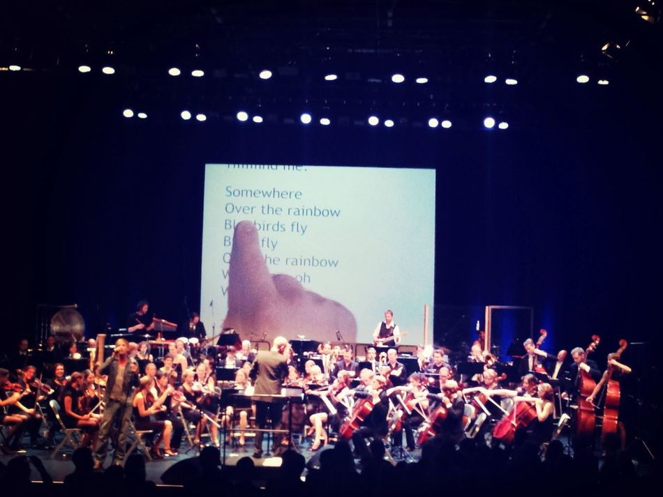 """""""Somewhere over the Rainbow """" Karaoke with an Orchestra <3"""