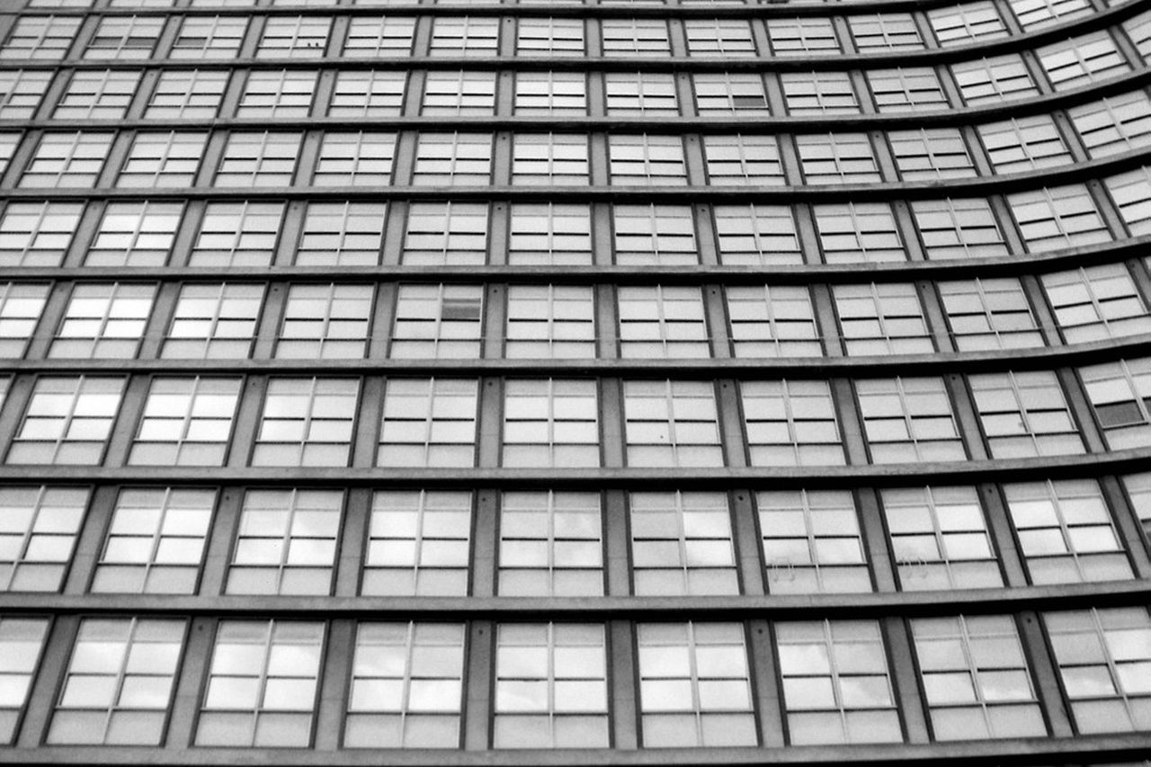 Urban Geometry Geometry Windows Blackandwhite Photography Analog Photography Praktica Analog Ishootfilm Film Photography The Purist (no Edit, No Filter) Kentmere Pentacon Analogue Photography Black And White Film Is Not Dead No Edits No Filters Buyfilmnotmegapixels Urban Space Abstract Photography Abstracters_anonymous