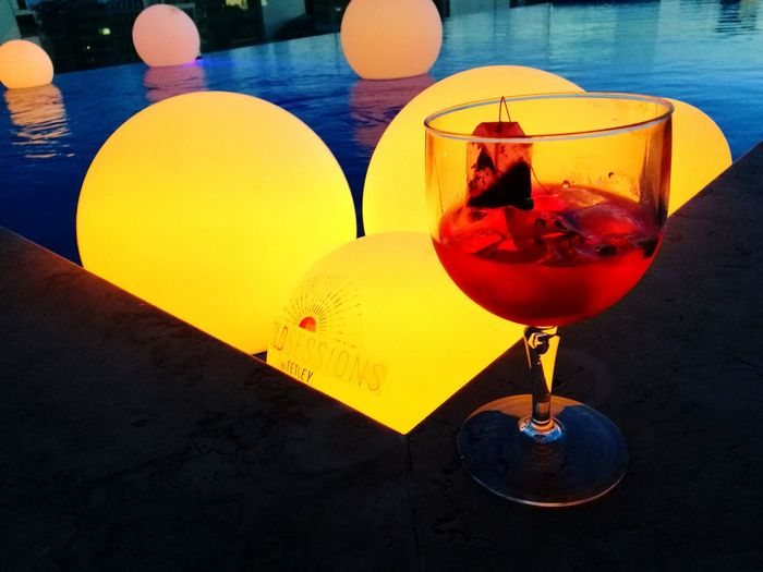 Drink for Fun. Drink Drinking Glass Poolside Poolparty Abstract Sunset Party Hotel Pool Creativity