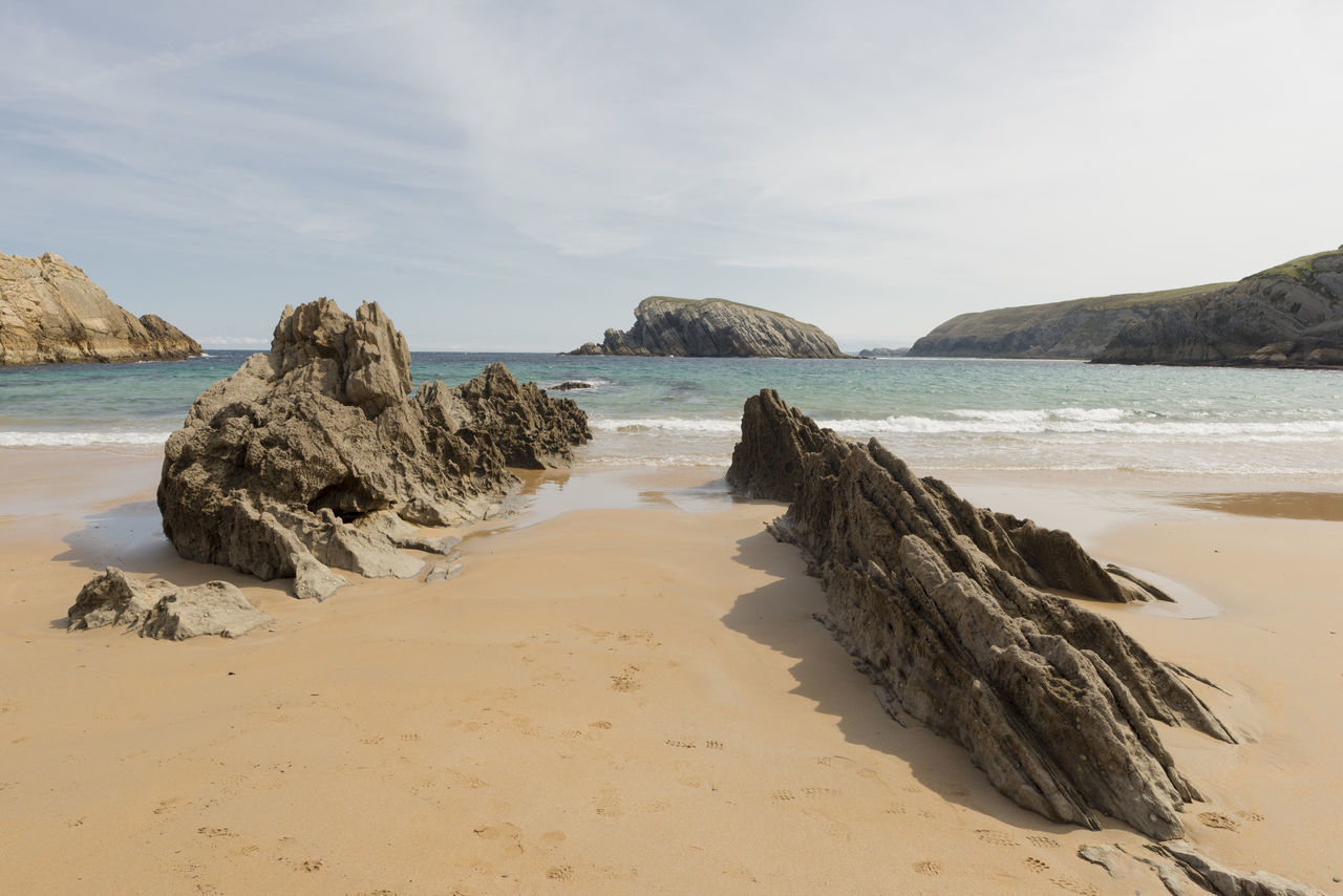 Arnia Arniabeach Beach Beauty In Nature Cantabria Coast Day Horizon Over Water Landscape Nature Nature No People Outdoors Rock - Object Sand Scenics Sea Shore Sky SPAIN Tranquil Scene Tranquility Water