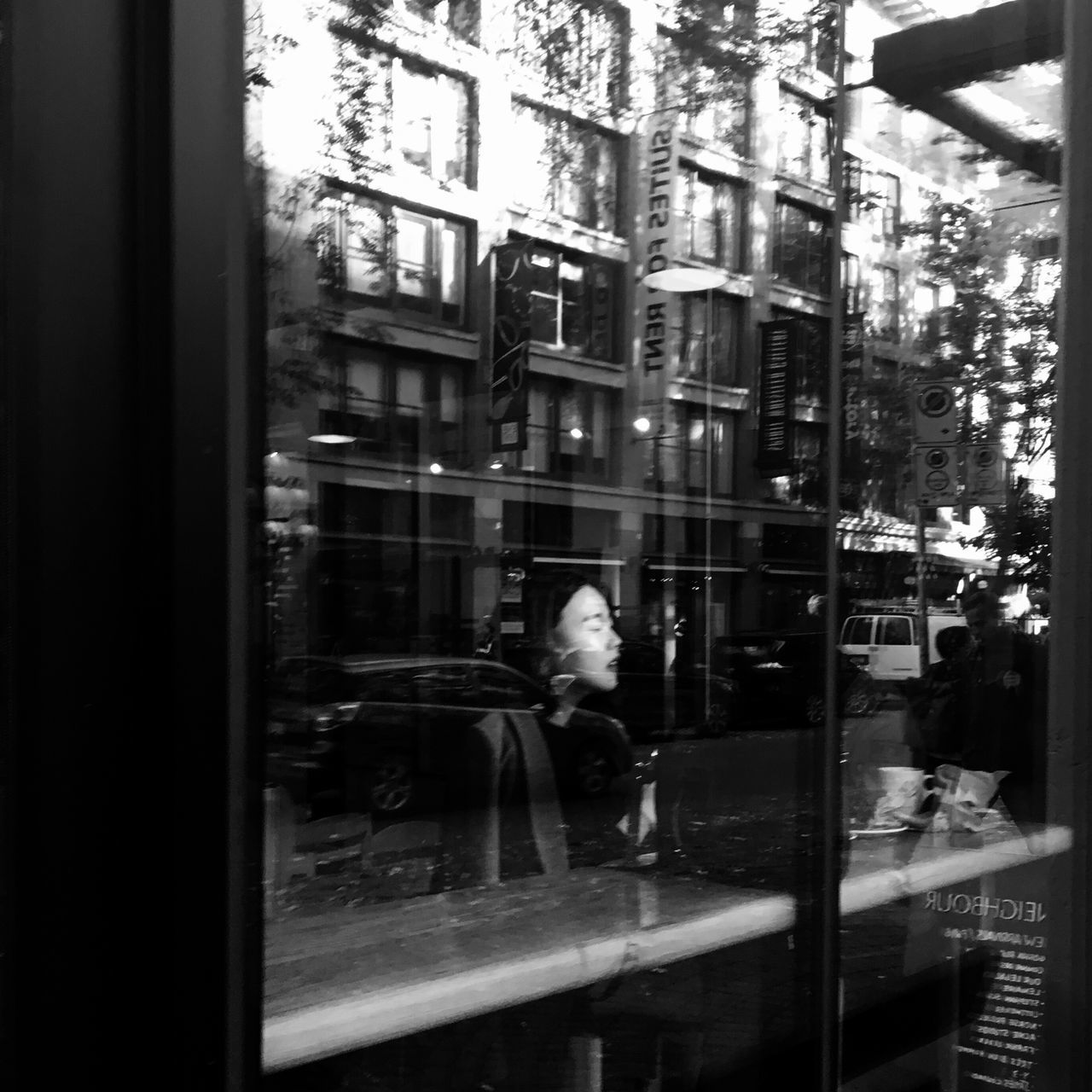 Building Exterior City Reflection City Life Person Glass Vancouver Coffee Window