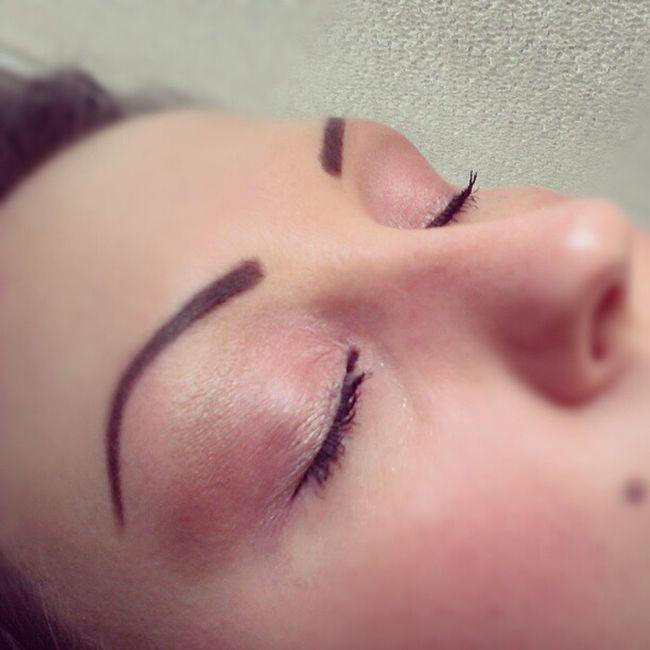 Muotd Makeupoftheday Makeup Makeupaddict toofacedmakeup toofaced pink brown tattooedeyebrows