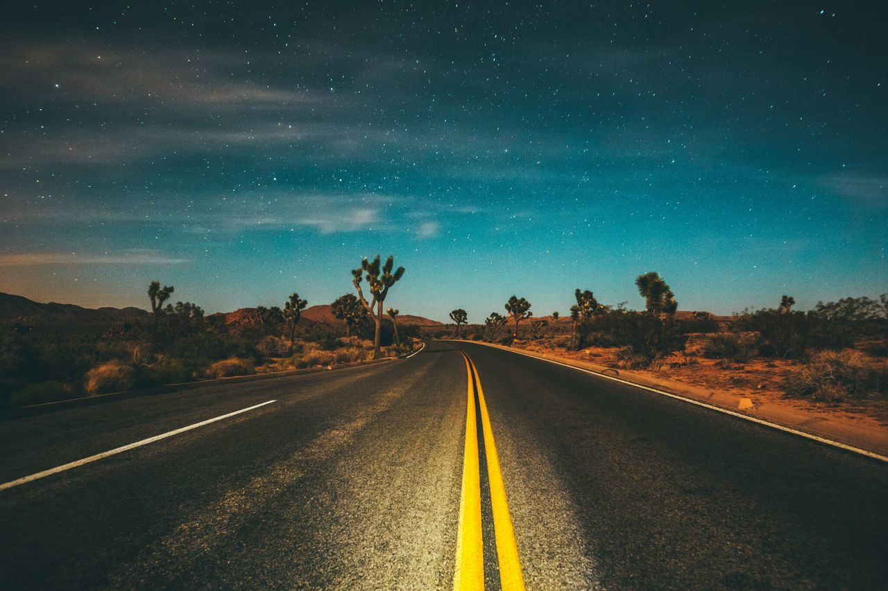 Beautiful stock photos of stars, the way forward, transportation, road, landscape
