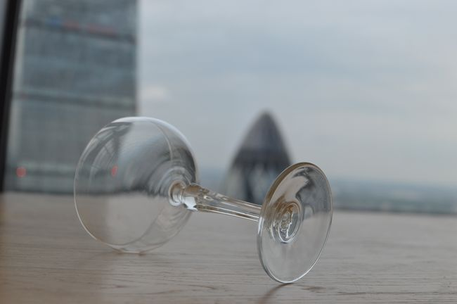 Walkie Talkie Series - Champagne! Champagne Champagne Glass Cheers Cheers 🍻 Cheesegrater Close-up Day Empty Focus On Foreground Gherkin Tower High Life Living It Up  London Skyline Nature No People Party Time Penthouse Selective Focus Sky Still Life View Vista Walkie Talkie Building