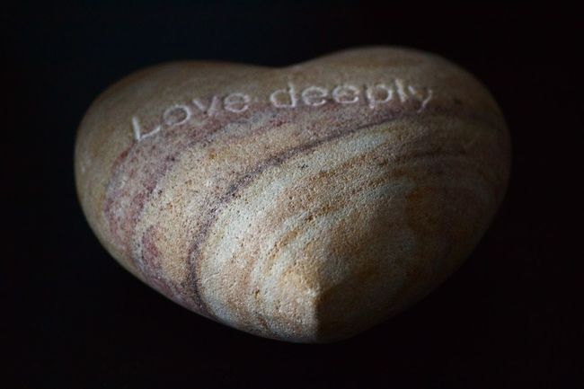 Black Background Black Color Close-up Copy Space Cut Out Dark Detail Heart Ideas Indoors  Love Love ♥ Lovedeeply No People Shadow Shape Single Object Still Life Stone Stoneheart Stonestructures Text Textured  Showcase March