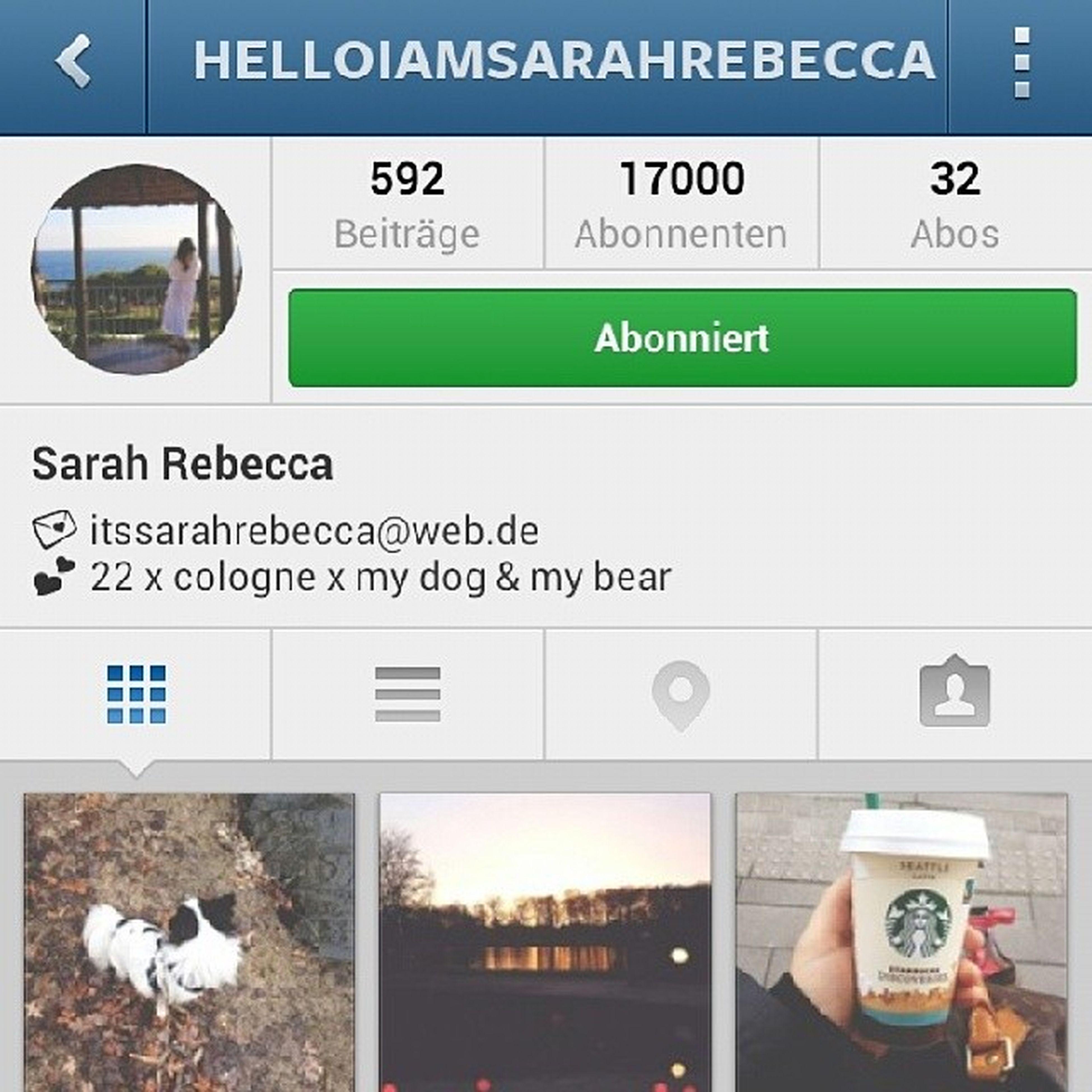 Glückwunsch Sarah ! Du hast 17k !!! Hochverdient !!! Folgt mal ihr. Sie ist OGs freundin und die sollten heiraten ♥♥♥ @helloiamsarahrebecca Ogandsarahloveeeeh