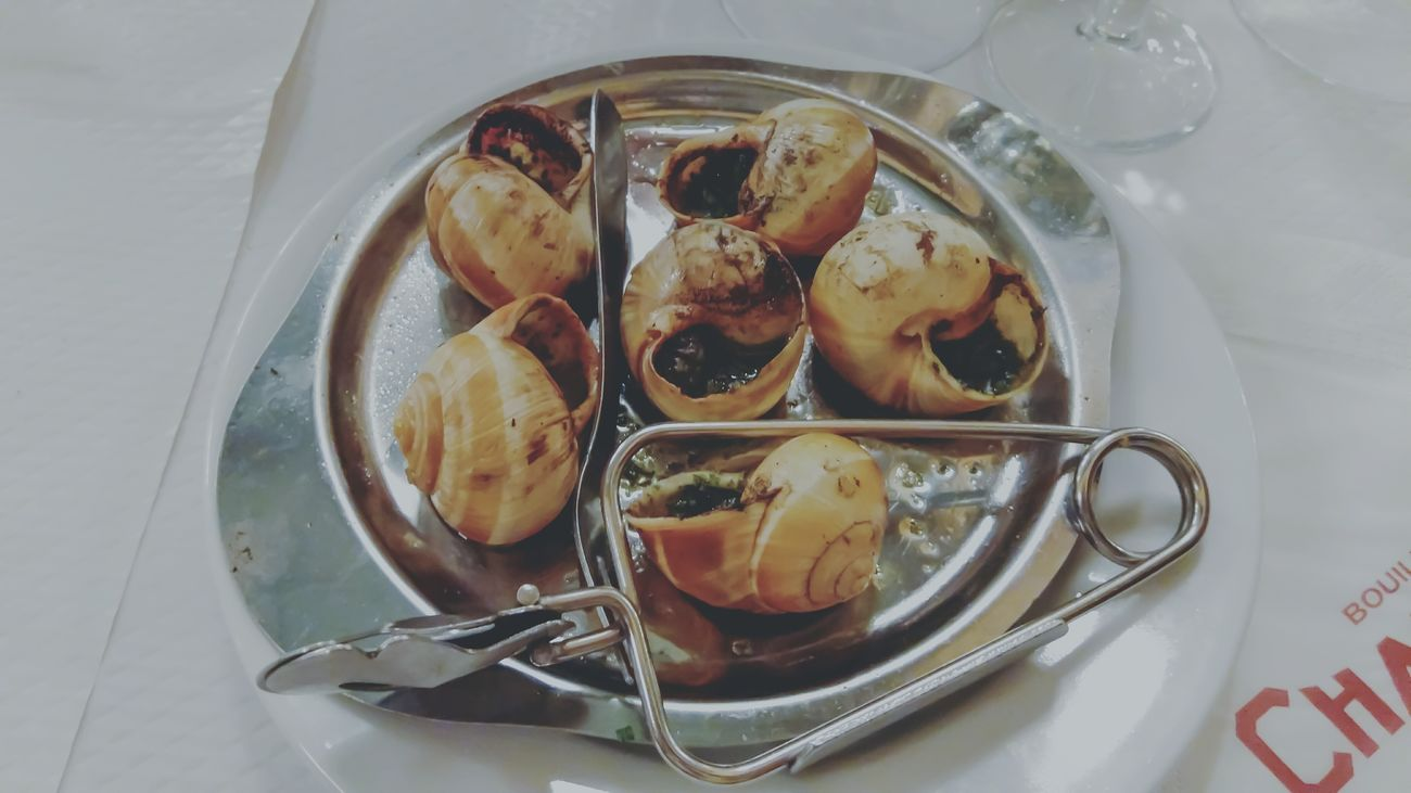 Escargot Trying Something Different Table High Angle View Freshness Food Food And Drink Indoors  No People Close-up Sweet Food Ready-to-eat Day Travelling France Traveling Paris, France  Travel