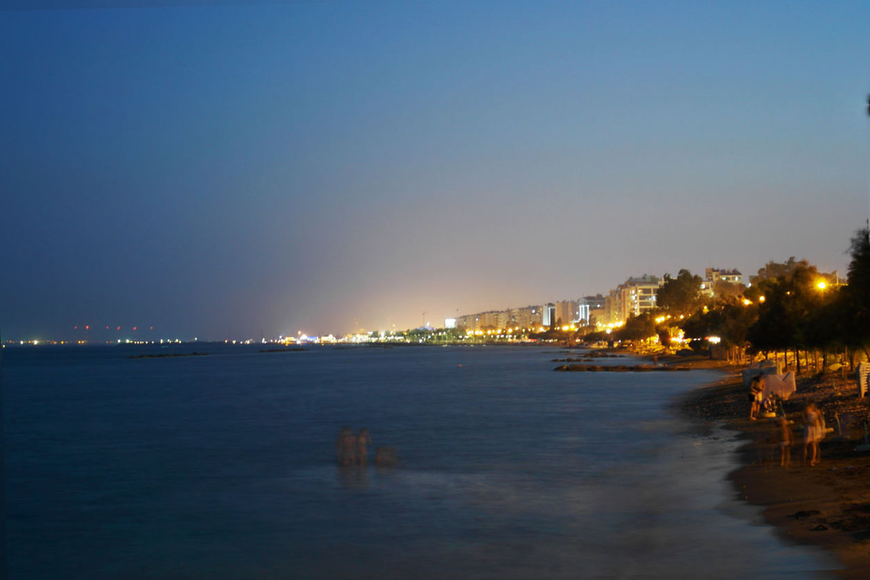Limassol, Cyprus Night Lights Night Photography Architecture Building Exterior City Cityscape Clear Sky Illuminated Limassol Limassol Cyprus Nature Night Night View Outdoors People Playing In The Water Place Residential  Sea Sky Urban Water Waterfront Neon Life Chemistart