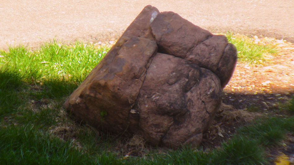 Beauty In Nature Big Rock Close-up Day Grass Lone Rock Nature No People Outdoors Rock Sunlight Tranquility