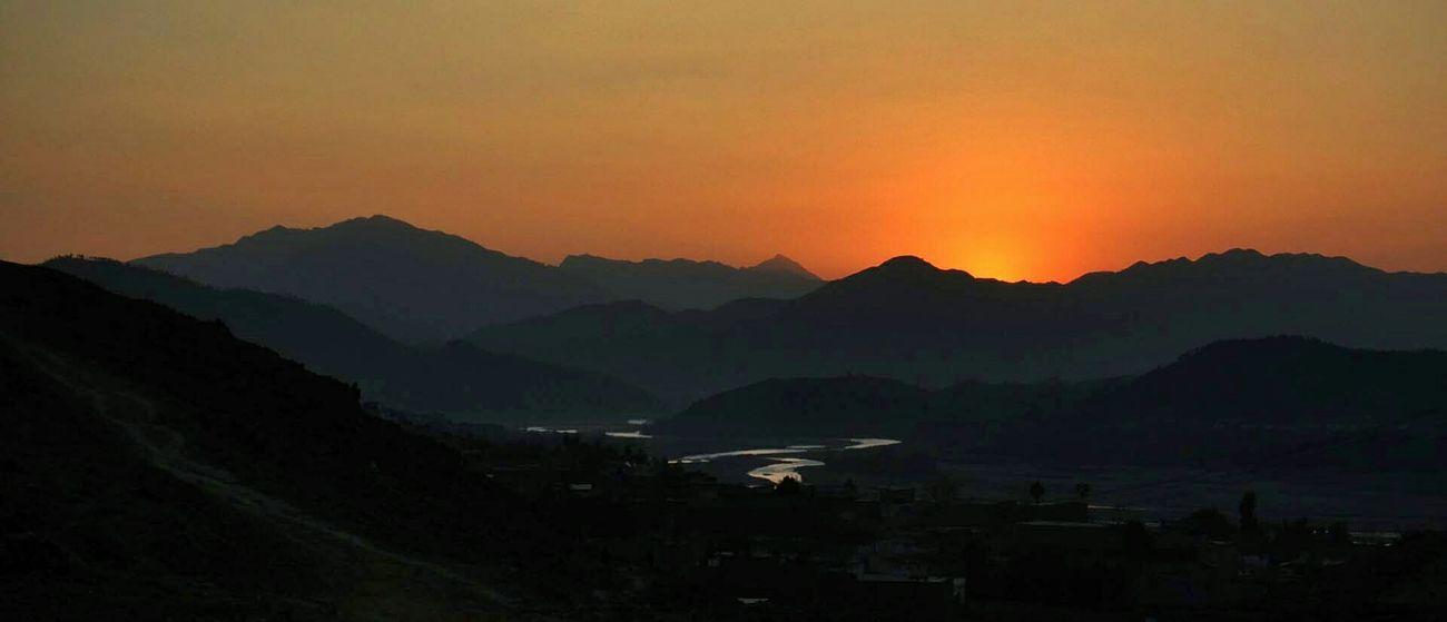 Dir Timergara Pakistan Landscapes Sunset Mountains
