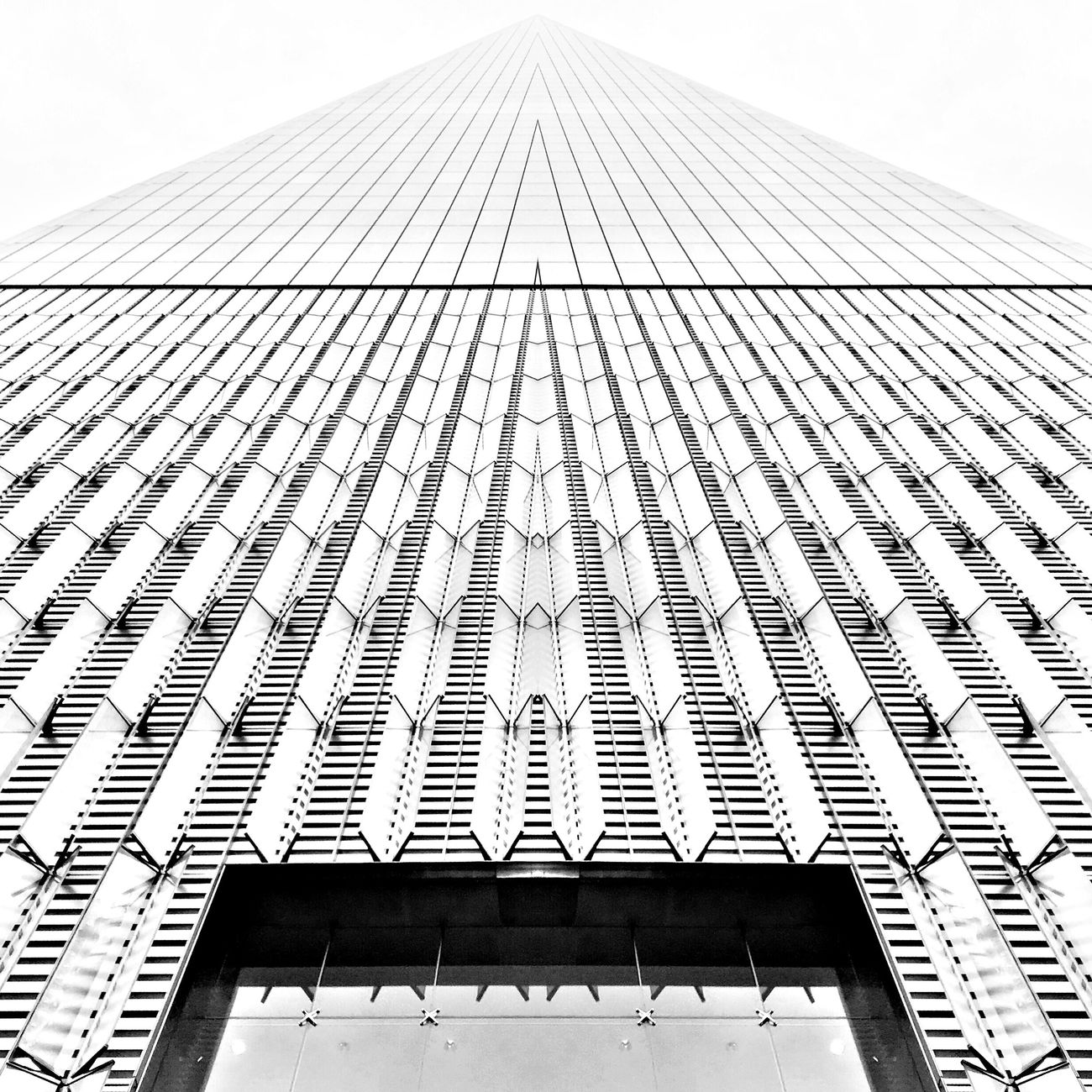 Louvers Architecture Building Exterior Skyscraper City IPhoneography Blackandwhite Symmetry New York