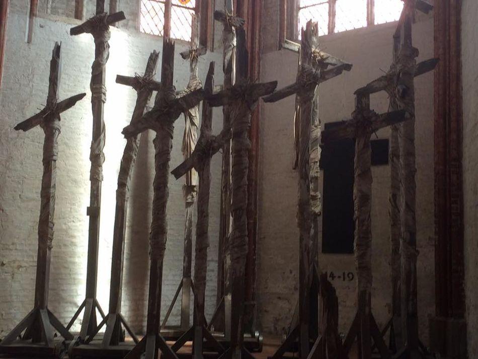 Church Crusified Faith <3 Hope Jesus Lübeck, Germany Old Rugged Cross Religious Art