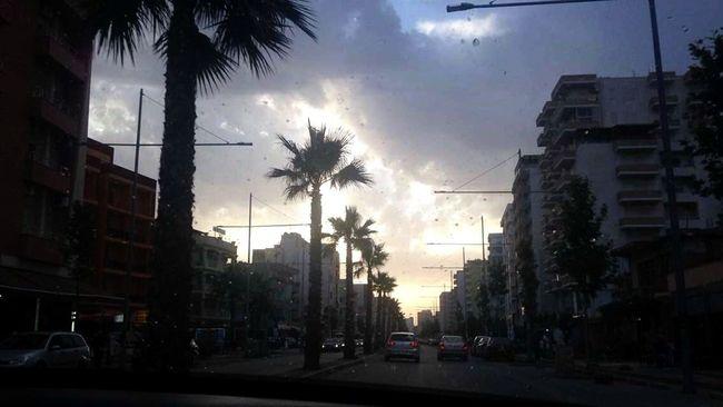 Durres Albania Raining Melancoly Driving Around PhonePhotography