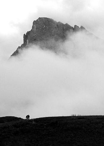 Trentino  Excursion Clouds Mountain Black And White Black & White Blackandwhite Returning Home