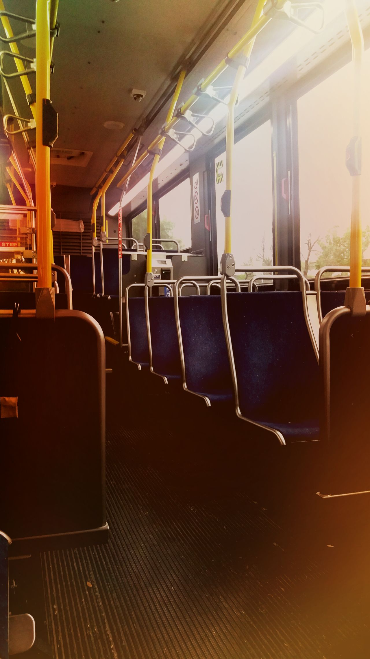 City Bus Empty Chairs Yellow Color No People Mode Of Transport Vehicle Interior can't wait till I get my car