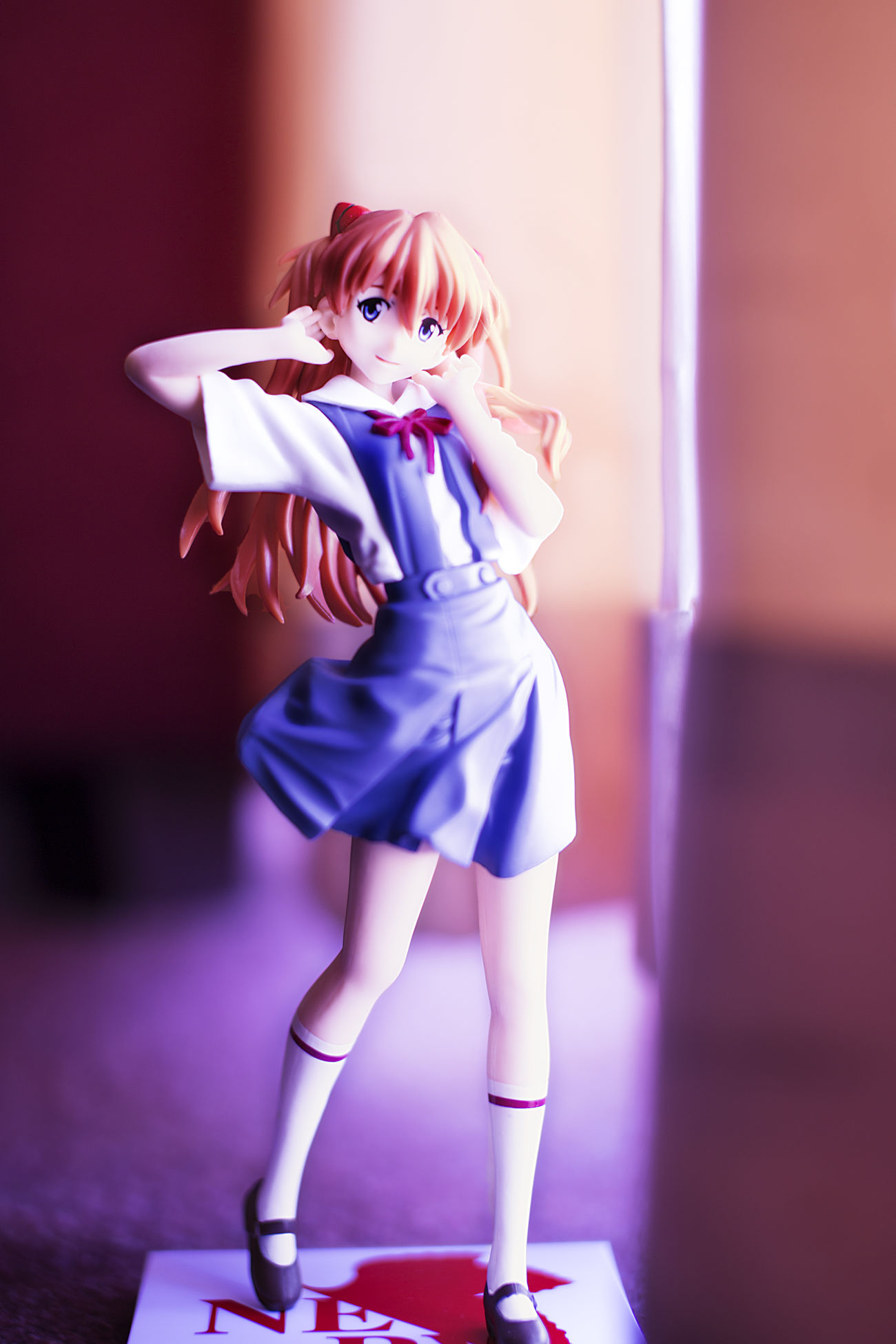 Colorful Eva Girls Childhood Uniform Only Girls Futuristic Indoors  Blond Hair Shadow Arts Old-fashioned Check This Out No People Comics Japan Adult Eva Reality Mind  Natural Beauty Figure Inside Things Impression Funny Moments