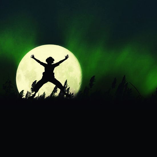 Supermoon creation Silhouette Sky One Person Men Outdoors Nature Night One Man Only People Witch