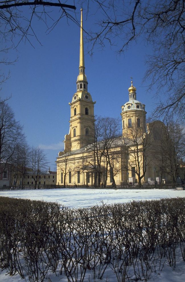 Commissioned by Peter the Great, the Cathedral of Saints Peter and Paul is located inside the Peter and Paul Fortress in Saint Petersburg, Russia. Built on Zayachy Island, between 1712 and 1733, the cathedral's bell tower is the world's tallest Orthodox bell tower. It also acts as a lightning rod protecting the cathedral. The cathedral houses the remains of most of the Russian emperors and empresses from Peter the Great to Nicholas II; including Catherine the Great, Empress of Russia for 34 years. The Historic Centre of Saint Petersburg and Related Groups of Monuments was declared a World Heritage Site by UNESCO in 1991. Architecture Blue Sky Blue Wave Cathedral Cloudless Fortress Landmarks Michel Guntern No People Religion Russia Russian Saint Petersburg Saints Peter And Paul Seeing The Sights Snow The Tourist Tourism Travel Travel Destinations Travel Photography Travel Photos Travel Pic UNESCO World Heritage Site Zayachy Island