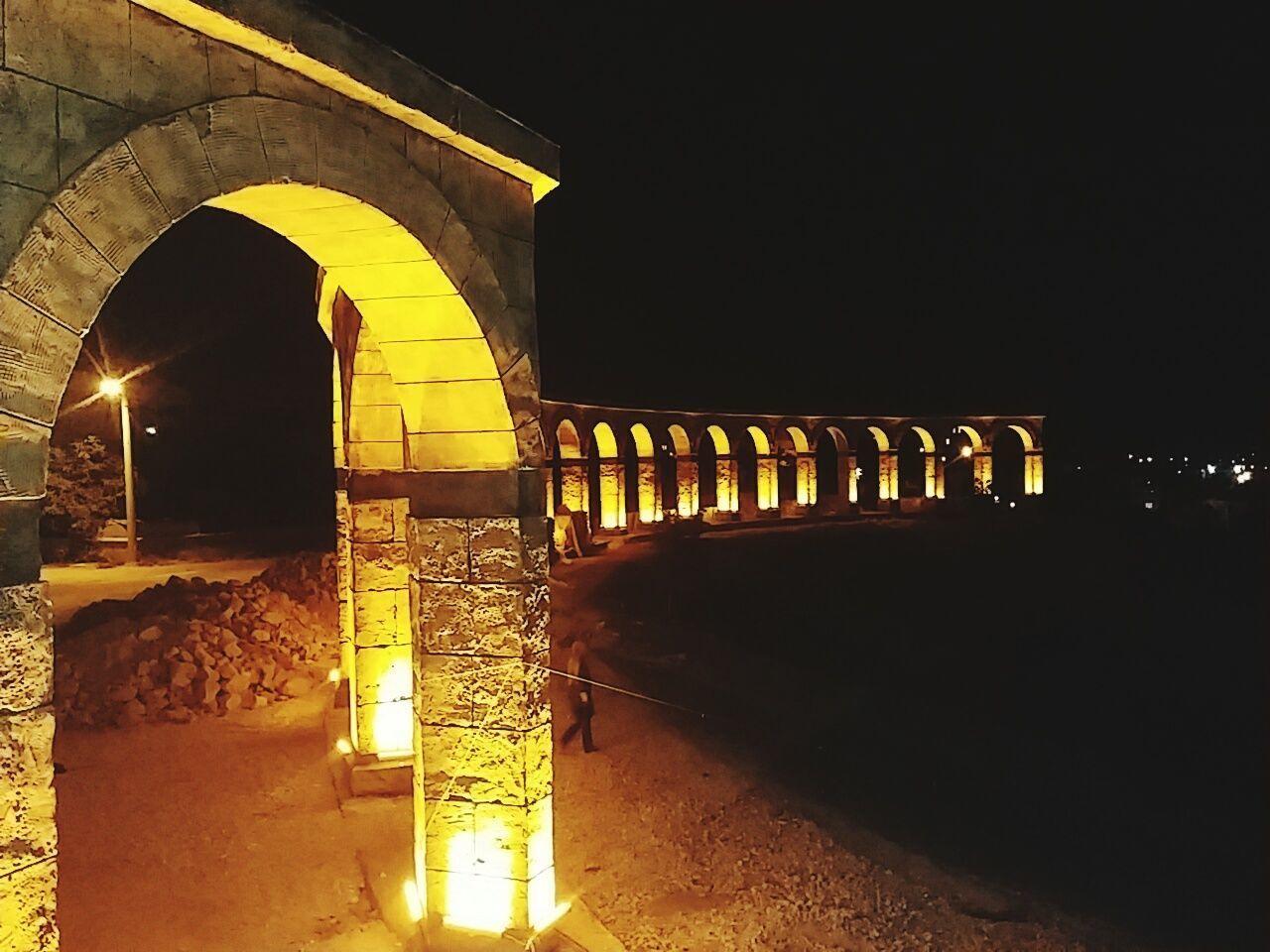 Night Built Structure Outdoors Arch City Building Bridge - Man Made Structure Buildingstyles Built