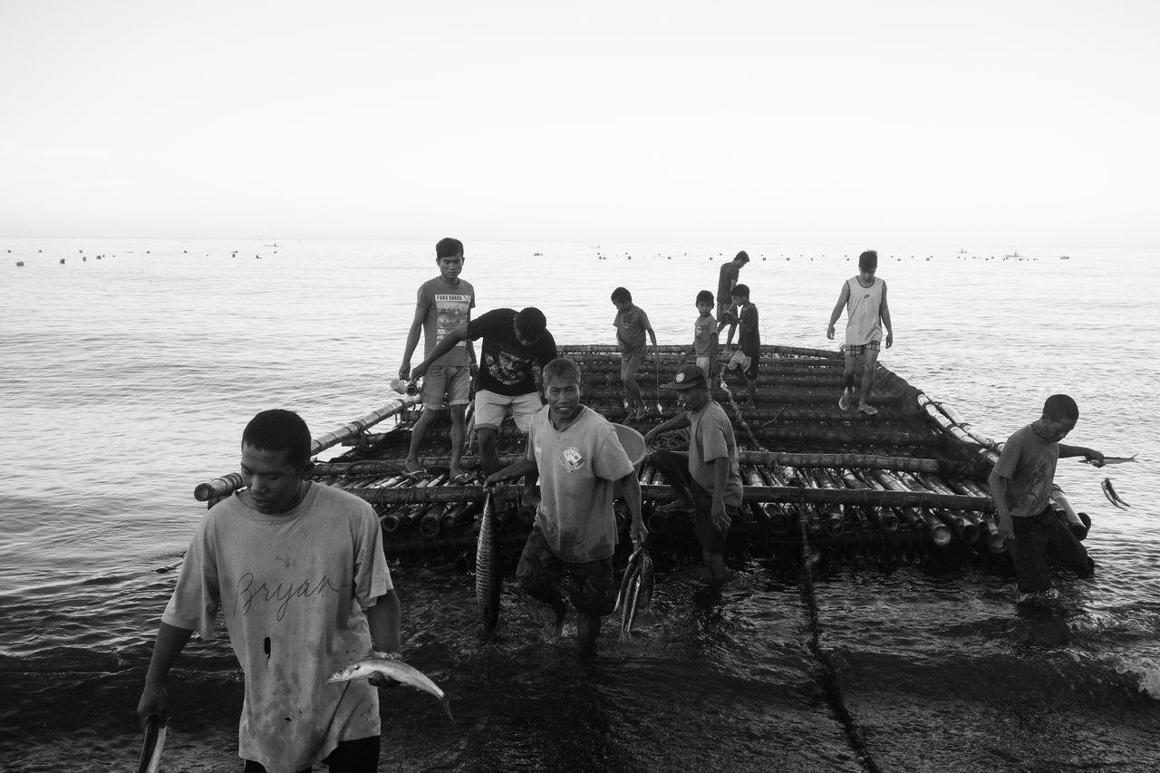 Beautiful stock photos of jagd, sea, water, men, large group of people