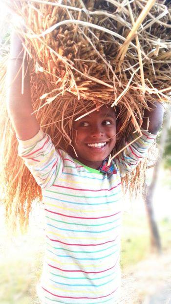 children with grass