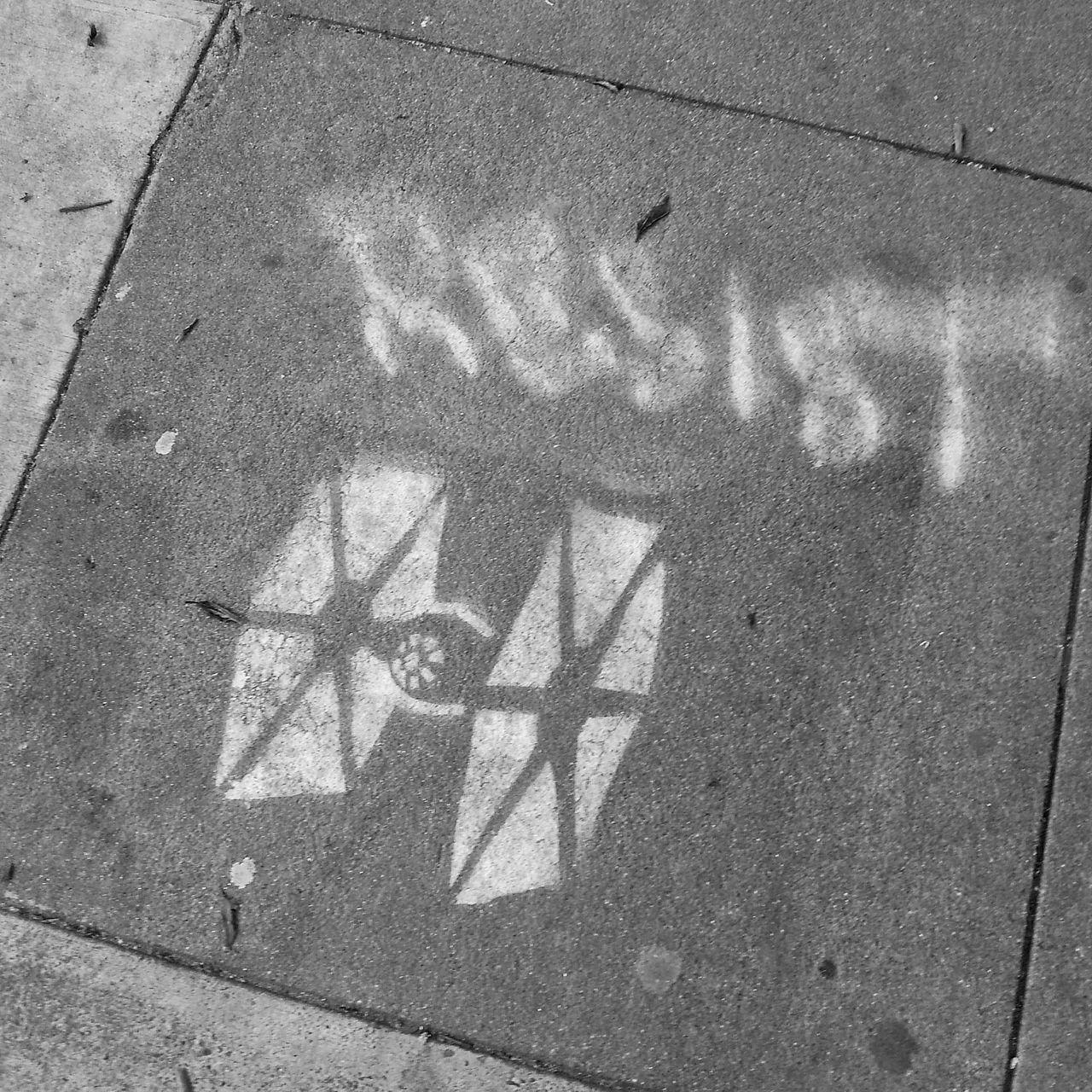 California Day Daylight Exterior Graffiti Mobilephotography No People Outdoors Outside Resist Samsung Galaxy S III San Francisco Sidewalk Star Wars Stencil Art
