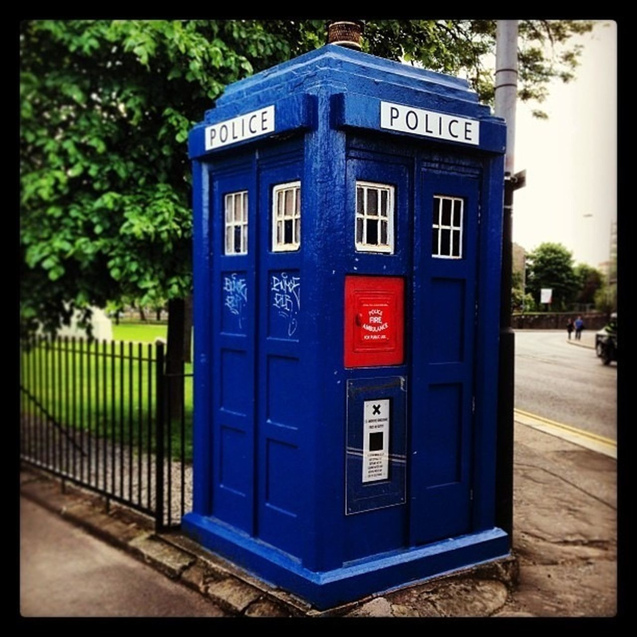 Police Doctor Who Tardis