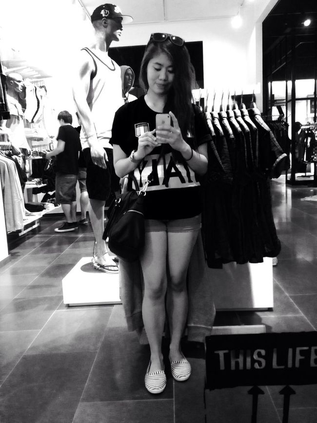 "Blackandwhite "" Mirror mirror on the wall who's the fairest of them all. "" SelfieShot Jackandjones Italyshirt"