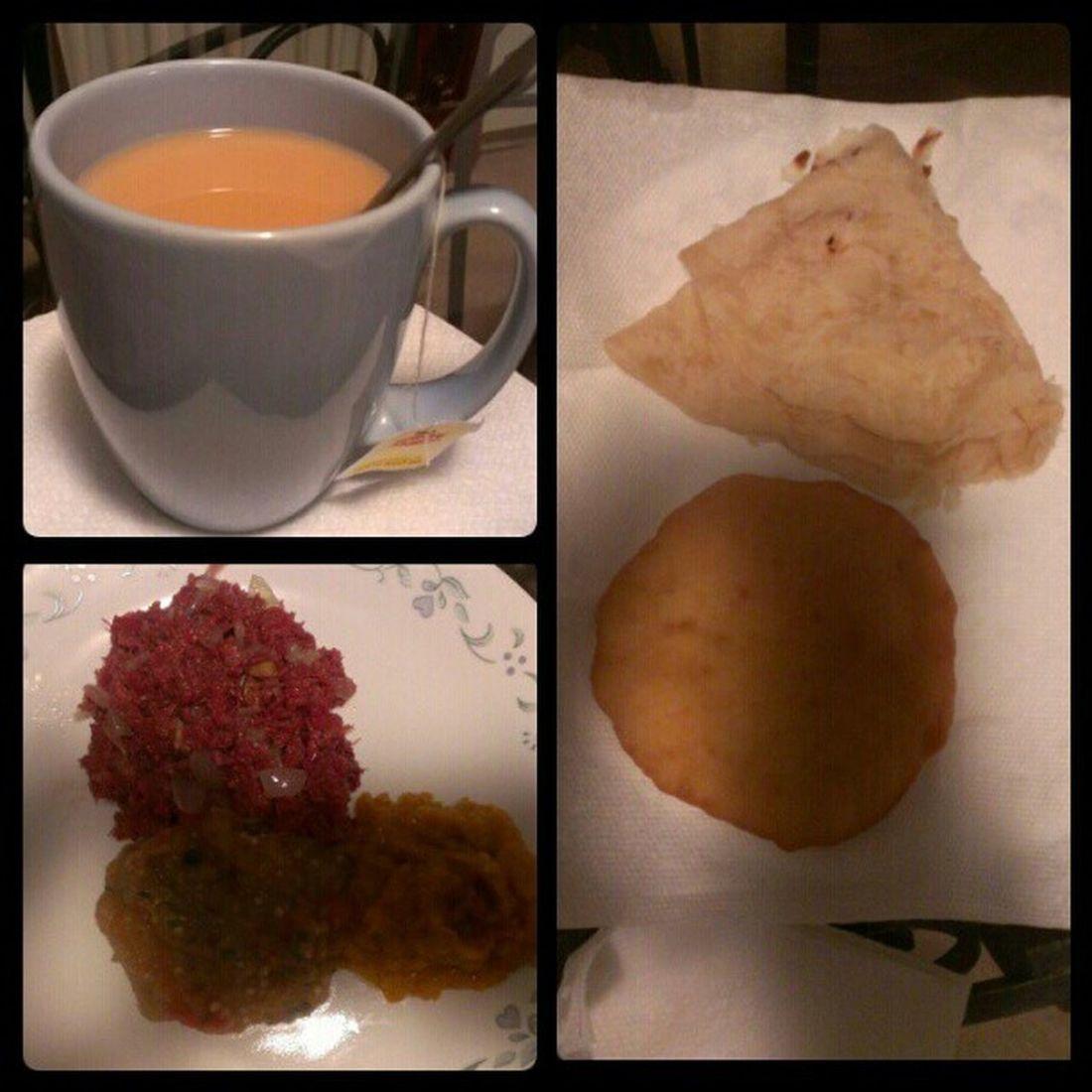 Dinner at Grandma's House!!! Baiganchoka Pumpkin Cornmutton Bake roti Liptontea