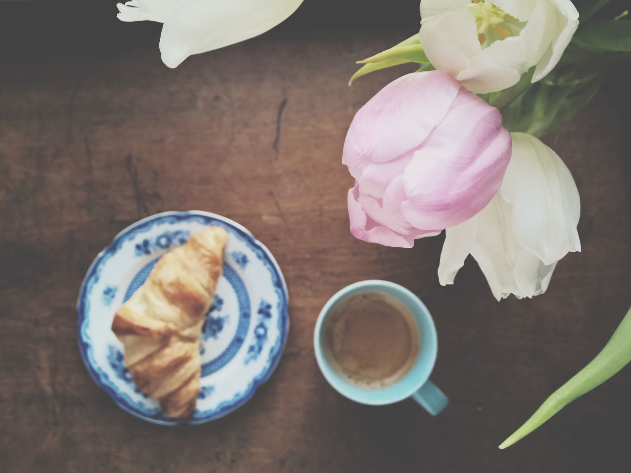 Beautiful stock photos of tulip, Baked Pastry Item, Coffee - Drink, Coffee Cup, Croissant